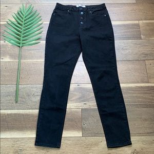 No Boundaries High Rise Button Fly Black Jeans
